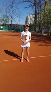 Катя Димитрова 6 клас - първо място до 18г. на тенис